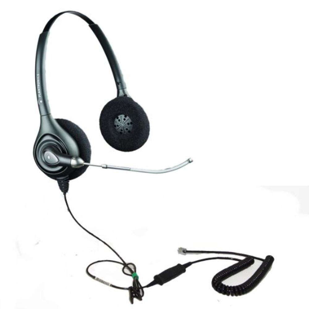 Plantronics (Poly) SupraPlus HW261 Binaural Headset with VoiceTube
